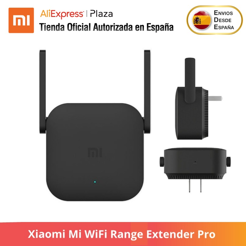 Xiaomi Mi WiFi Range Extender Pro -EU PLUG (Wi-Fi Repeater Wifi Signal Cover Extender Repeater 2.4G Mi Wireless Black Router)