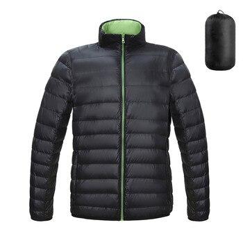 KISSQIQI Mens Packable Down Jackets Lightweight Puffer Coat Winter Casual Outdoor Travel Sport Overcoats 1