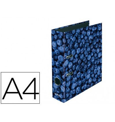 LEVER ARCH FILE HERLITZ A4 WITH RADO LOMO 80 MM BLUEBERRIES 4 Pcs