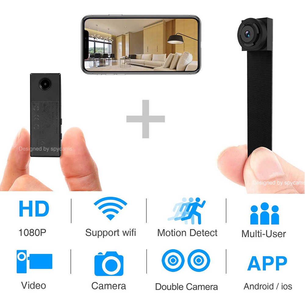 built-in 8G TF Hpme DIY 1080P Wifi P2P IP Module hidden charger SPY Camera DVR