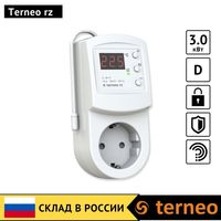 Terneo rz-electric thermostat in socket with air temperature sensor for convector  ceramic infrared heater Room heat controller