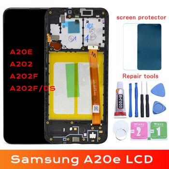 Оригинальный дисплей для samsung Galaxy A20e A202 A202F A202DS дисплей кодирующий преобразователь сенсорного экрана в сборе A202F/DS для samsung A20e lcd