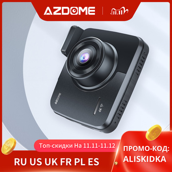 AZDOME GS63H Built in GPS WiFi Dual Lens FHD 1080P Front + VGA Rear Camera Car DVR Recorder 4K 2160P Dash Cam Dashcam Recorder image