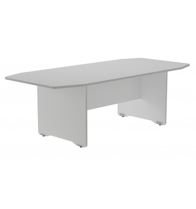 MEETING TABLE 220x100x72CM COLOR: PAW ALUMINUM/GRAY BOARD