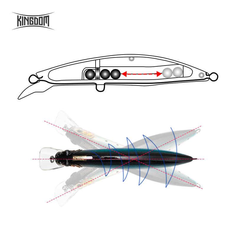 Unito Floating Minnow Wobbler Esca 100 millimetri 20.7g/120 millimetri 30g di Richiamo di Pesca Artificiale Esca Dura Da Pesca affrontare Jerkbait Modello 5501