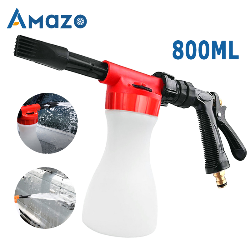 800ml Car Washing Foam Gun Car Cleaning Washing Snow Foamer Lance Car Water Soap Shampoo Sprayer Spray Foam Gun