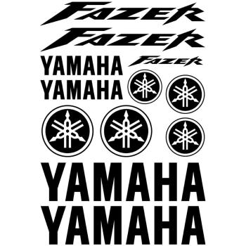 Langersun Small Size Car Stickers Vinyl Decal for Tmax YZF R1 R6 FZ6 FAZER FZ1 FJR TDM 900 FZ1 FAZ Revs Your Heart 6x2cm 2lots