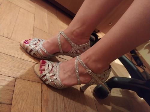 Sapatos de dança Pérola Wuxijiao Strass
