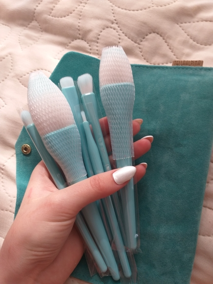 8PCS Makeup Brushes Sets Powder Foundation Blusher Eyeshadow Brush Candy Cosmetic Colorful Make Up NO MSQ LOGO With Bag reviews №2 156496