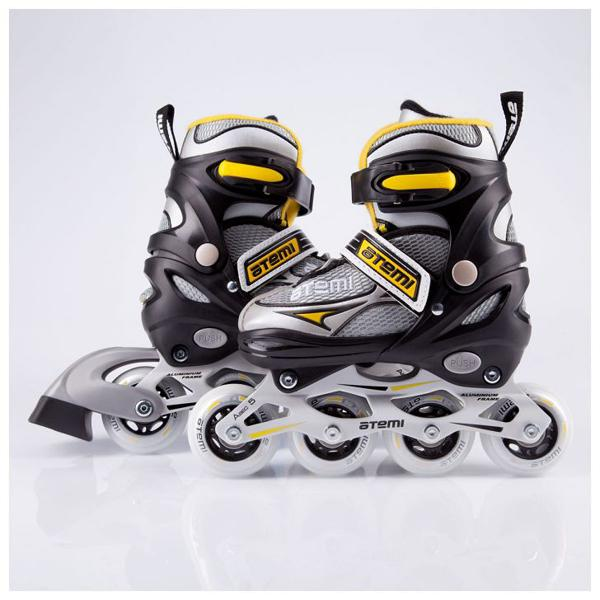Ajis-01 Boys Alu-5 Roller Skates Yellow/black/gray, Alu, Abec5, Size, 34-37