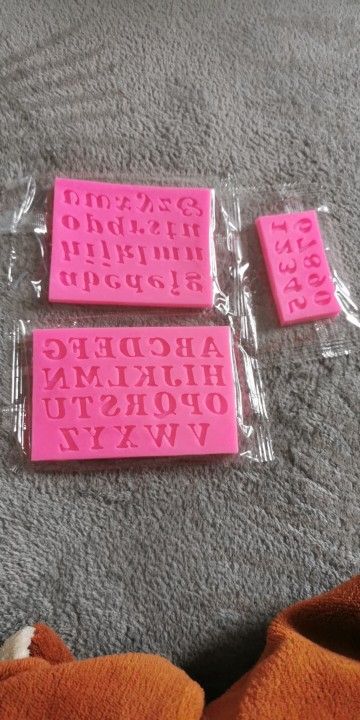 Letters Numbers Silicone Mold photo review