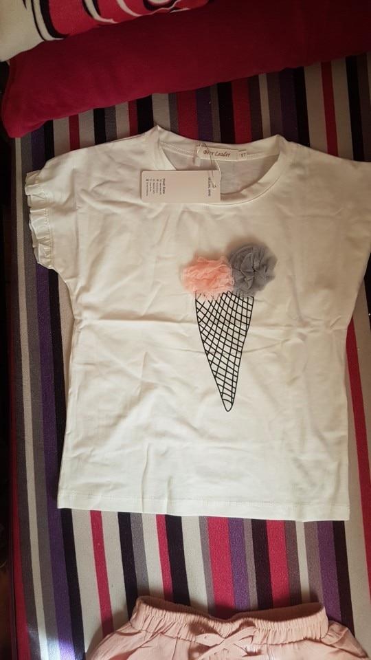 Conjuntos de roupas Algodão Meninas Crianças