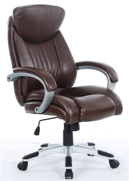 Office Armchair ALPHA, High, Gas, Tilt, Similpiel Brown