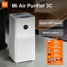 [-€7 code:SAVINSES7] Limpiador automático de purificador de aire Xiaomi 3C para el hogar, Detector de humo, filtro Hepa, concentrador de oxígeno MIJIA MI, ozonizador