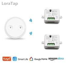 Tuya WiFi สวิทช์รีเลย์ Micromodul 10A พร้อม REMOTE Voice Control Google Home Echo Smart Life APP ตัวจับเวลา