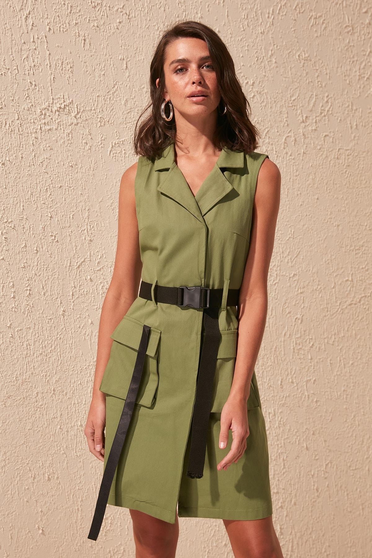 Trendyol Arched Dress TWOSS20EL1067