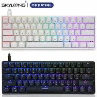 Skyloong Mini Tragbare 60% Mechanische Tastatur Drahtlose Bluetooth Gateron Mx RGB Hintergrundbeleuchtung Gaming Tastatur GK61 SK61 Für Desktop