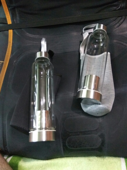Glass Sport Water Bottle with Tea Filter Infuser Protective Bag 550ml-in Water Bottles from Home & Garden on AliExpress