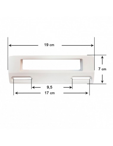 Door Handle Refrigerator UNIVERSAL 19x7 Cm (White)