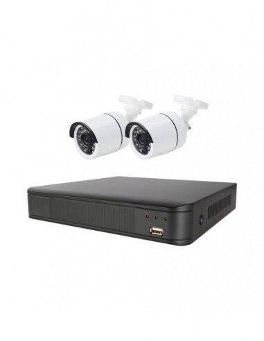 Surveillance System CCTV Full HD 2 Cameras + DVR 4 Channel Energeeks EG-CCTV001