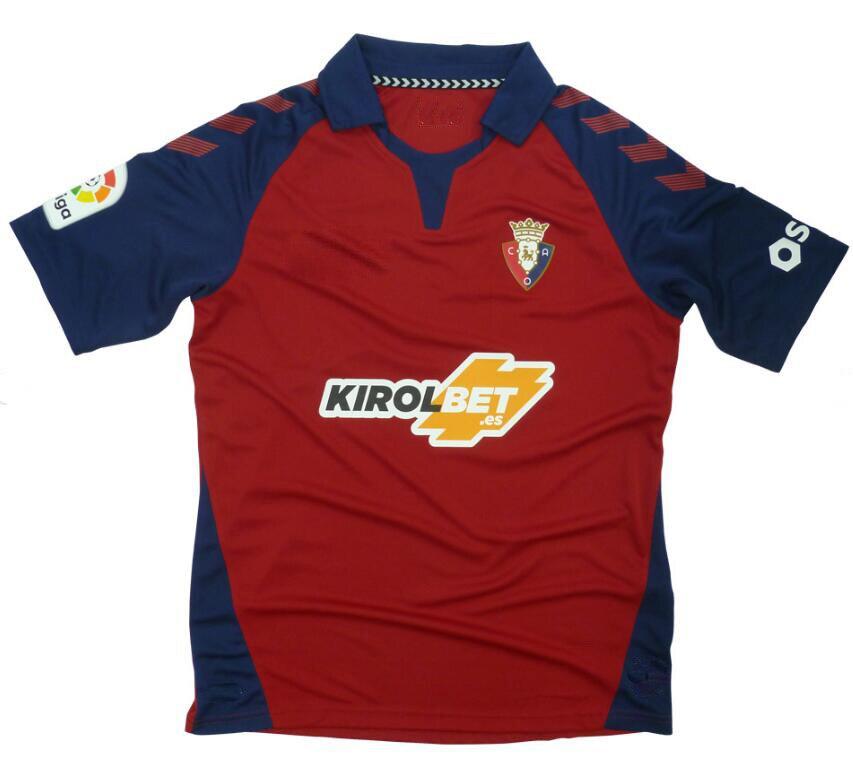 2019 Camiseta de futbol 19/20 Top Qualidade dos homens para O Osasuna Futbol Camisa maillot de foot execução Camisetas