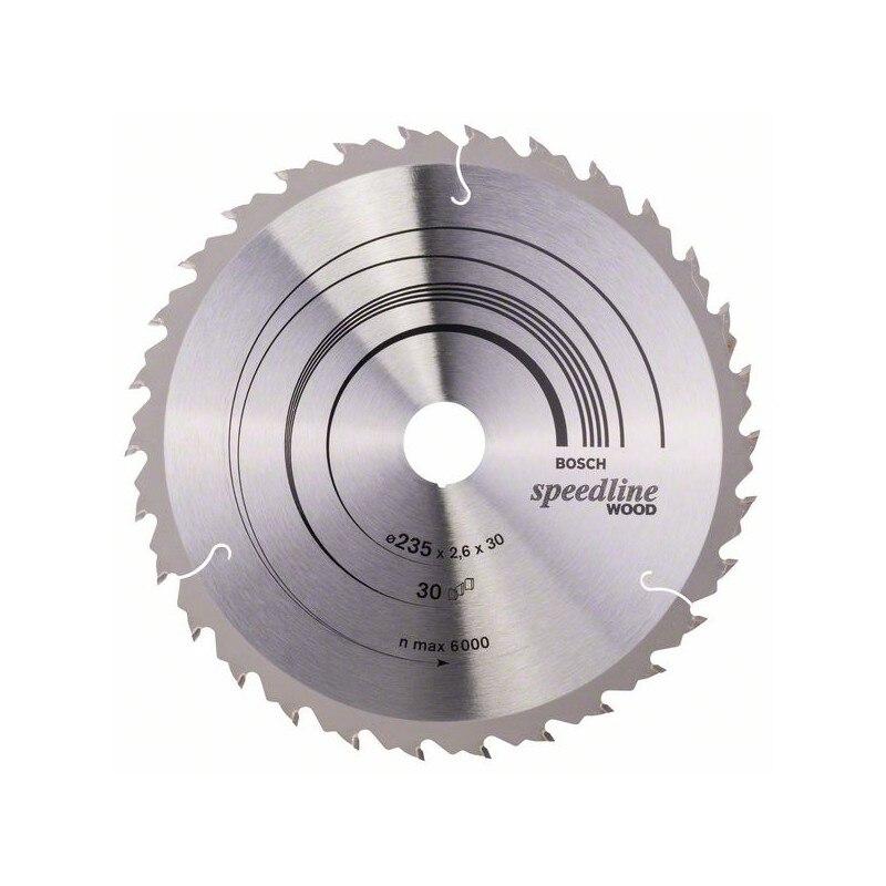 BOSCH-Hoja circulate saw Speedline Wood 235x30/25x2,6mm 30