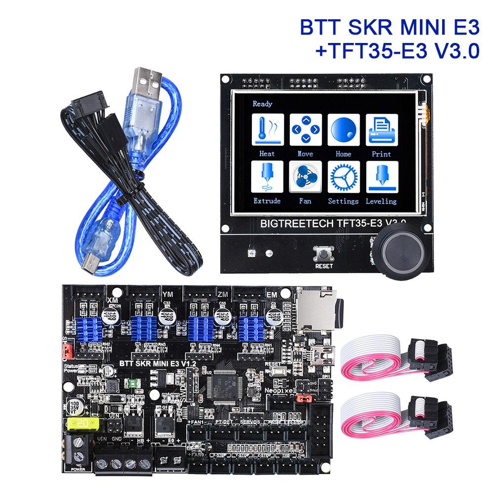 bigtreetech btt skr mini e3 v1 2 tft35 e3 v3 0 painel de controle 32 bits
