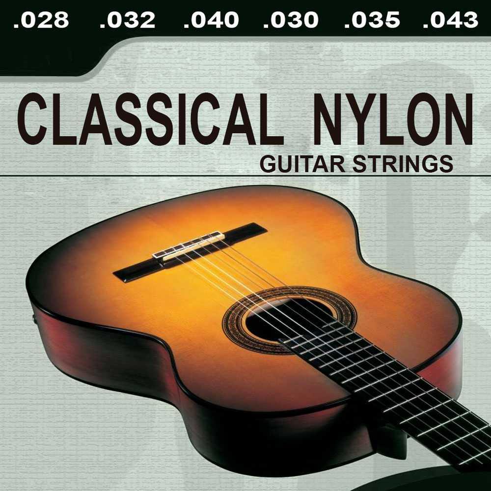 Классическая гитара, 6 Нейлоновых струн, стандартный датчик натяжения для классической Испанской Гитары