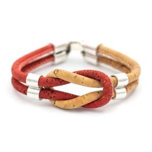 Image 5 - Bracelet en liège coloré original vintage unisexe fait main bijoux bracelet BR 424 MIX 5