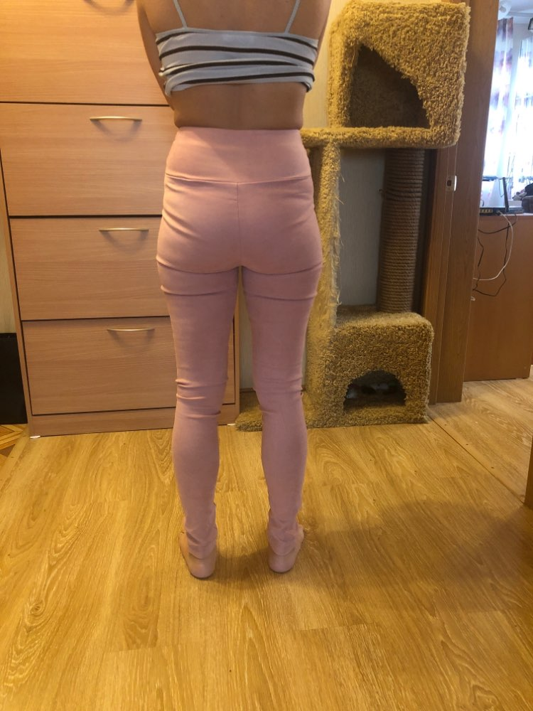 Spring Autumn Suede Leather Women Pants High Waist Large Elastic Slim Retro Leather Suede Pants For Women photo review