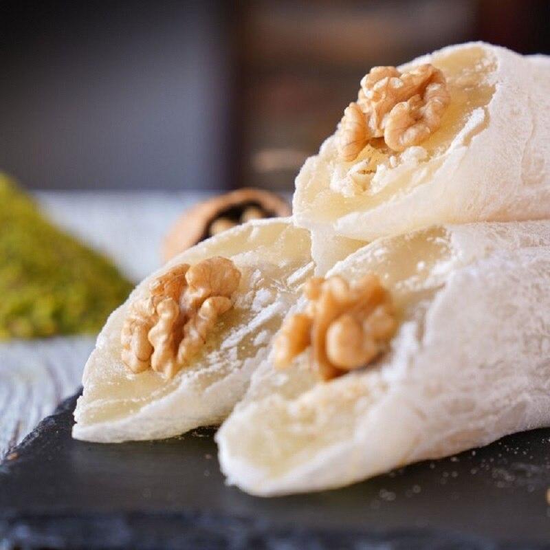 Inanılmaz sağlıklı kavrulmuş çift ceviz türk şamdan zevk Vegan şeker tatlı lezzetli gurme tatlı 900 gram title=