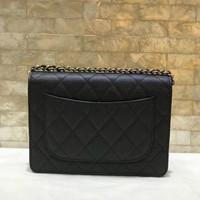 hot sale women small wallet on chain genuine leather messenger bag
