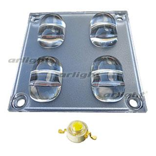 013487 Lens Unit STB 4 (130x60 °, 4 Led) Arlight 1-piece