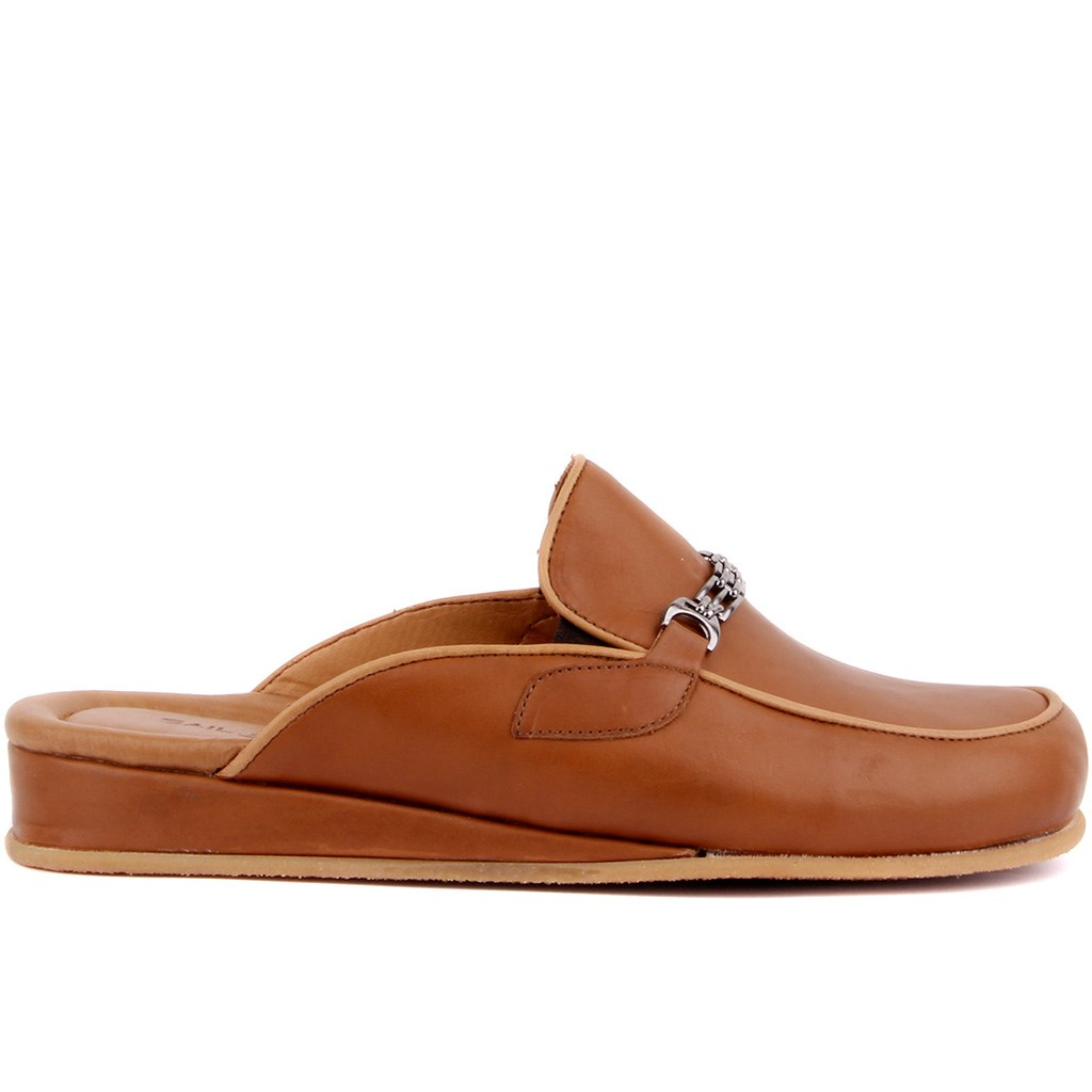 Sail Lakers-Tan Leather Men 'S Outdoor Slipper