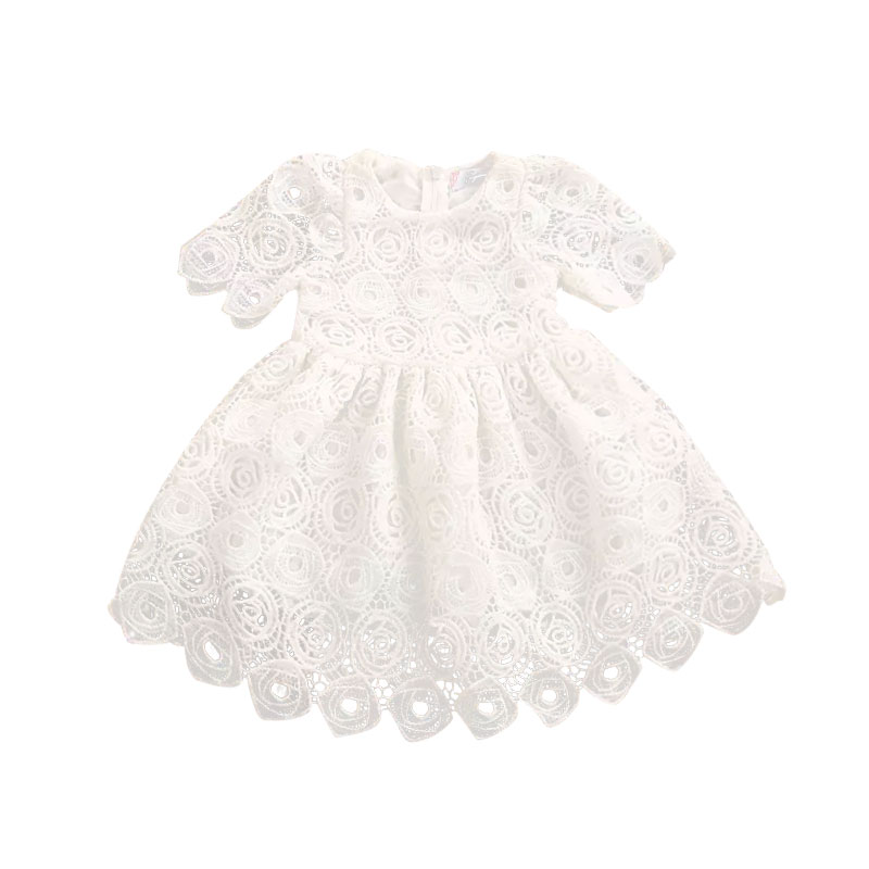 0-24M Toddler Newborn Baby Girls Dress White Lace Tutu Party Wedding  Dress Princess  Easter Costumes For Infant Girls