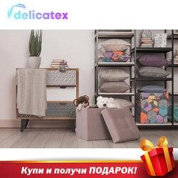 Мягкий складной пуф Delicatex Дели... цвет gris-Beige коробка для хранения с... пуфик для детей... подставка... мебель для гостиной