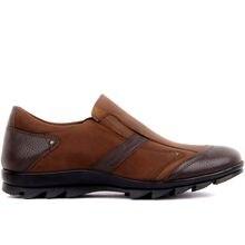 Fosco-sapatos casuais masculinos de couro castanho