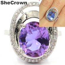 20x16mm Ravishing Color Changing Alexandrite & Topaz White CZ Gift For Woman's Gift Rings