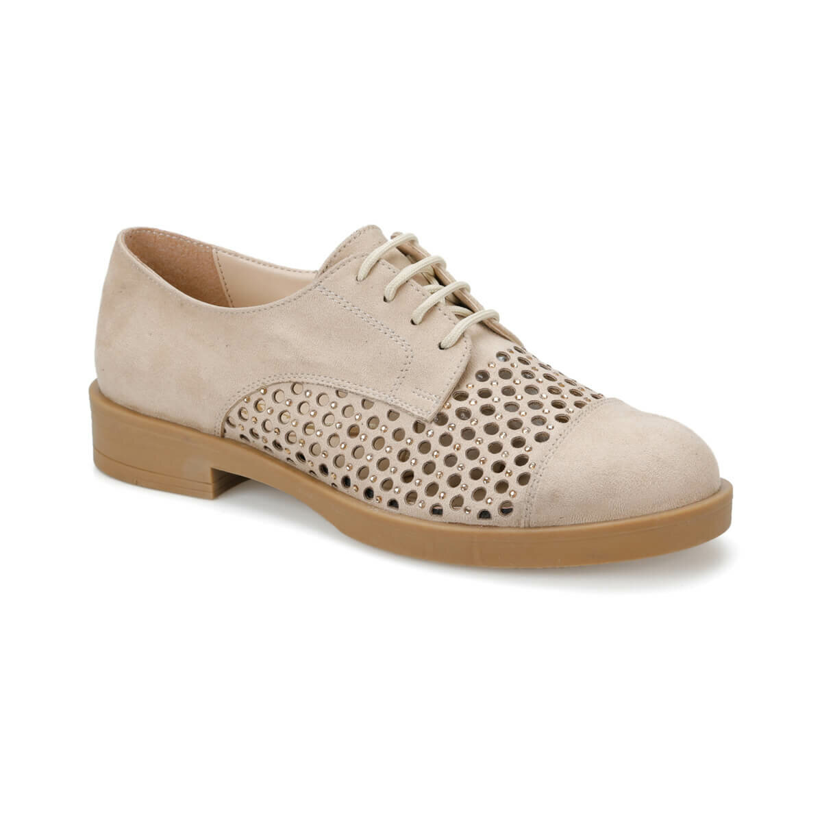 FLO DS19043 Beige Women Oxford Shoes Miss F