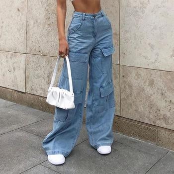 90s Big Pocket Wide Leg Jeans