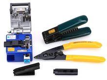 Kit de ferramentas de fibra óptica conexão fria ferramenta fibra óptica descascamento cleaver para sumitomo com 36000 folhas e fibra óptica gota