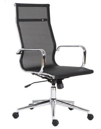 Office Armchair EGER, High, Gas, Tilt, Black Mesh