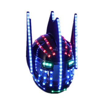 LED Helmets Fashion Luminous Flashing Marquee Glowing Helmet Waterfall Flow LED Robot Helmet Suits Accessories led costume led clothing light suits led robot suits kryoman robot david guetta robot size color customized