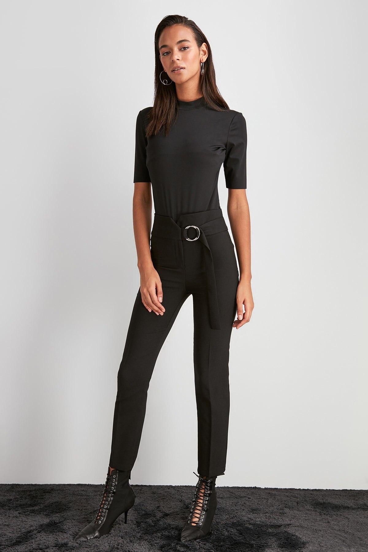Trendyol Belt Detail Pants TWOAW20PL0600