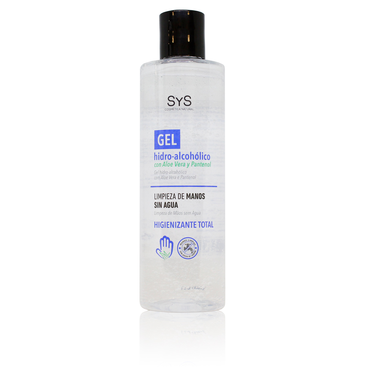 GEL HIDROALCOHOLICO Hands 250 ML / 70% ALCOHOL Disinfectant-ANTISEPTICO-cleaning Hands-on ALCOHOL And ALOE VERA