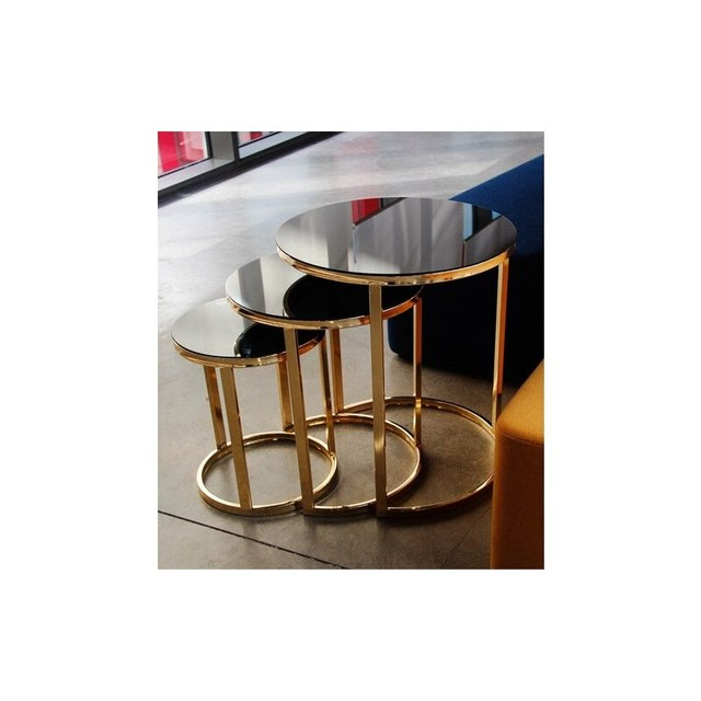Mirrored Nesting Table 3