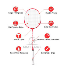 Outtobe 2PCS Badminton Racket Set-Professional Carbon Fiber Badminton Racket with 2 shuttlecocks and Carrying Bag for Beginner