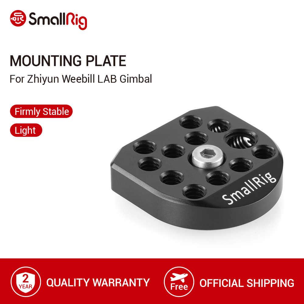 Placa de montaje SmallRig para Zhiyun weevill LAB cardán Mini Placa de liberación rápida con 3/8 y 1/4 -20 agujeros roscados-2275