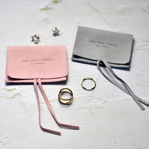 Jewelry-Pouch Gift-Bag Packaging Microfiber Envelope Custom-Logo Wedding-Favor Pink 100pieces