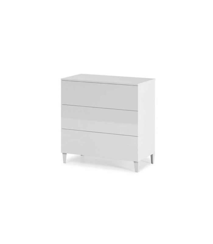 Comfortable 3 Drawers Diva White.